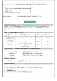 Word 2010 Resume Templates Microsoft Word Resume Template Free Download Within Templates