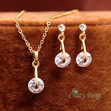 necklace earrings chain images Indian jewelry wedding bridal jewelry sets trendy gold color jpg