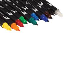amazon com tombow dual brush pen art markers primary 10 pack