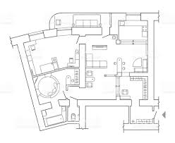 Architecture Floor Plan Symbols by Floor Plan Top View Plans Standard Home Furniture Symbols Set Used