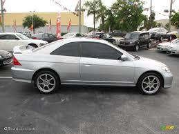 honda civic 2004 coupe satin silver metallic 2004 honda civic ex coupe exterior photo