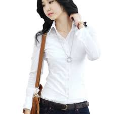buy formal female blue shirts women long sleeve work blouses ol