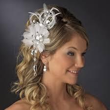 hair fascinators vintage bridal feather hair fascinator w dangling crystals clip