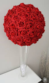 roses centerpieces flower wedding centerpiece pomander