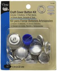 How To Button Upholstery Amazon Com Dritz Craft Cover Button Kit Size 45 10 Count
