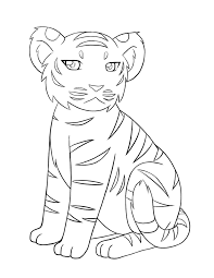 baby tiger coloring pages kids coloring free kids coloring