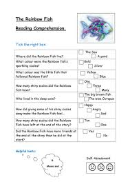 rainbow fish reading comprehension kayld teaching