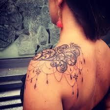 Shoulder Tattoos - image result for lace shoulder ink lace