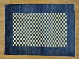 Checkerboard Area Rug 5 5 U0027 X 7 5 U0027 Peshawar Gabbeh Checkerboard Design Handmade Pure Wool