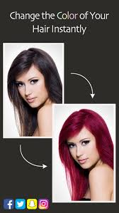 how to see yourself in a different hair color hair color booth on the app store