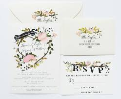 floral wedding invitations whimsical floral wedding invites by the snow
