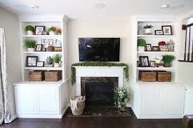 built in cabinets around fireplace adding shiplap to built ins around fireplace in family room