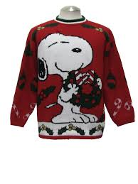 80s sweater snoopy and friends 80s vintage