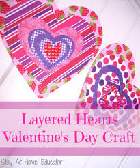 layered hearts valentine u0027s day craft