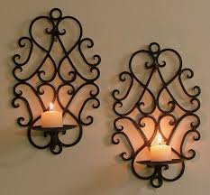 Sconces Decor Affordable And Comforting With Candle Wall Sconces Wrought Iron
