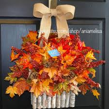 wreaths on sale fall wreath thanksgiving from aniamelisa on etsy