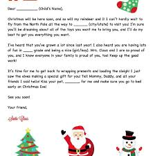 personalized letter from santa personalized letter from santa elemeno p kids