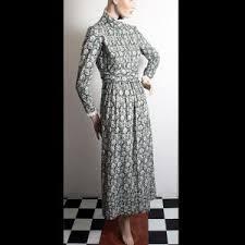 1970s u0027laura ashley u2013 made in wales u0027 sage green animal print dress