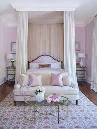 Pink Canopy Bed Hot Pink Settee At End Of Black Canopy Bed Mediterranean Bedroom