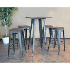 metal bar table set square metal kitchen dining tables kitchen dining room