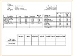 Excel Paystub Template Pay Stub Template Adp Pay Stub Template Free Pay Stub Templates