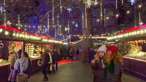london christmas lights walking tour london walk leicester square traditional christmas market