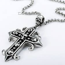 aliexpress cross necklace images Fashion gift rock n 39 roll mens chain boys 316l stainless steel jpg