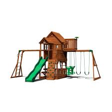 backyard discovery skyfort ii cedar swing set play set sam u0027s club