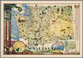 Washington State Map by Pictorial Map Of Washington