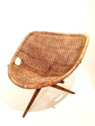siege en siege en rotin fauteuil tripode en rotin de joseph andre motte