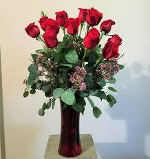 Long Stem Rose Vase Dozen Long Stem Roses U2013 Online Flowers