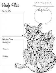 free coloring page printable planner for teachers
