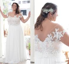 discount two pieces 2017 arabic beach plus size wedding dresses
