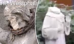 christian statues german christian statues destroyed in religiously motivated attack