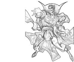 doctor strange coloring pages marvel characters printable coloring