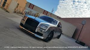 roll royce chrome project rolls royce ghost by dbx wrapped in two tone black and