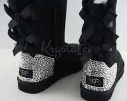 ugg s boots black bling uggs etsy