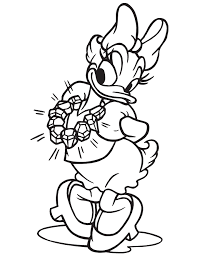daisy duck wearing diamond necklace coloring u0026 coloring