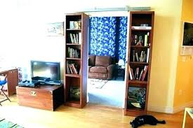 Bookcases With Doors Uk Sliding Bookcase Hardware Moutard Co