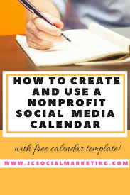 how to create and use a nonprofit social media calendar with