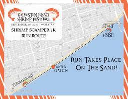 Galveston Island Map The Galveston Island Shrimp Festival Official 5k Registration Sat