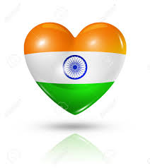 Flags That Are Orange White And Green Love India Symbol 3d Heart Flag Icon Isolated On White With