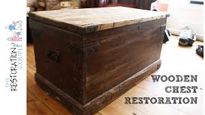 Old Wooden Furniture Antique Wooden Chest Restoration Project Intro Youtube