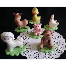 farm animals for cake farm birthday party decorations on the