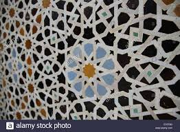 Morocco Design by Ornate Islamic Design In A Mosque In Marrakesh Morocco Stock