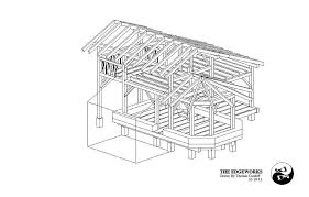 hand build architectural wood framework model house timber frame straw bale house design the year of mud