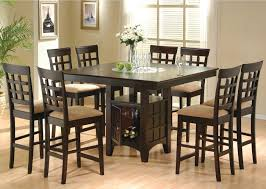 Dining Room Table Styles Pub Style Dining Room Sets With Dark Brown 8 Chairs With Light