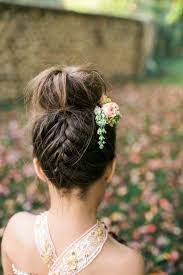 Flower Decorations For Hair The 30 Best Wedding Bun Hairstyles Everafterguide