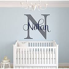 Letter Wall Decals For Nursery Custom Name Monogram Wall Decal Nursery Wall Decals