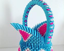 3d Origami Flower Vase Instructions 3d Origami Etsy